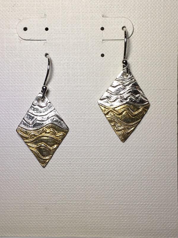 Fine silver framed earrings